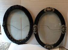 Vintage Decorative Large Oval Convex Frames Set 2 Decorative Convex Glass Frames