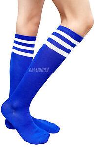AM Landen Blue/White Stripe Knee High Socks Stripe Socks Knee Socks Girls Socks