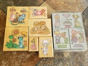 Precious Moments lot 12 LRG.Rubber & Foam Stamp Set very good condition