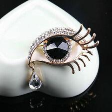 Damen Modeschmuck Kristall Strass Auge Brosche Pin Brosche Zubehör C2F8 R5B Y2K8
