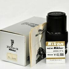 Nikon Nikkor 200mm f/4 AI Man'l Fcs Telephoto Lens. Mint-. Tested. See Images.