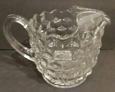 "Fostoria American Crystal 6"" Water Juice Wine Pitcher w Ice Lip Scalloped Top"