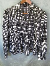 East 5th Blouse Size Medium Deconstructed B&W Plaid Top