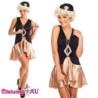 20s Black Flapper Costume 1920s Chicago Gangster Fancy Dress Full Outfits