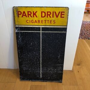 Vintage Park Drive Cigarettes Tin Advertising Sign & Pub Game Chalk / Score