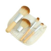 4pcs Makeup Brush Kit Pro Bamboo Mini Brushes Set Make up Cosmetic Facial Brush