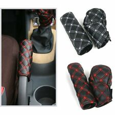 Sweatproof Anti-skid Auto Car Gear Shift Knob Cover & Handbrake Cover Sleeve Red