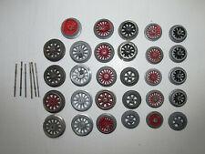 Konvolut 29 alte Lokräder Gußspeichenräder Spur 0 Durchmesser 2.7cm - 3.5cm