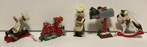 Lot of 5 Vintage Hershey's Christmas Ornaments Kurt Adler 1985-1989