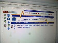 NY NJ Port Authority Police Ambulance Decals 1:64
