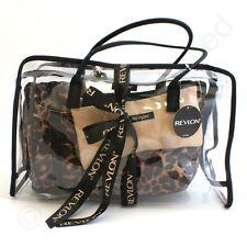 Revlon Cheetah 4 Piece Deluxe Tote Set Ladies Gift Make Up Cosmetics Bags