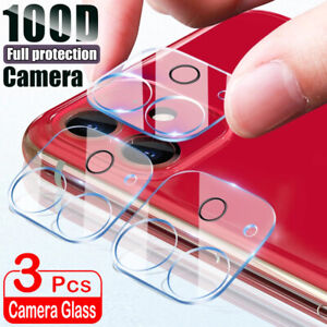 For iPhone 12 11 Pro Max X XR XS 8 7 Tempered Glass Camera Lens Screen Protector
