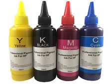 4 Pigment refill ink for HP inkjet printer 4 colors 4x100ml