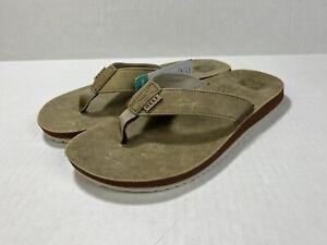 Reef DRIFT CLASSIC Mens Leather Flip Flop Sandals Sand CI3682 Size 10