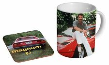 Magnum PI Awesome Tom Selleck C_ramique Mug Tasse š Caf_ Ensemble De Sous-verres