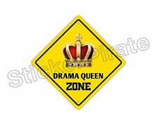 """*Aluminum* Drama Queen Zone Funny Metal Novelty Sign 12""""x12"""""""