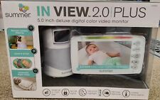 "Summer In-View 2.0 Plus 5"" Deluxe Digital Color Baby Monitor 29740A"