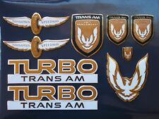 89 Pontiac Firebird 20th Anniversary Turbo Trans Am 9pc Badge Set
