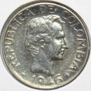 Colombia 1946 10 Centavos 902429 combine shipping