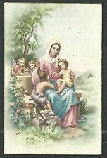 Postal antigua de Jesus y San Juan Bautista  andachtsbild santino holy card