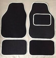 BMW E87 1 SERIES 04+ WHITE TRIM EDGE CAR FLOOR MAT SET