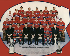 Montreal Canadiens 1968-69 Stanley Cup Champions - 8x10 Color Team Photo