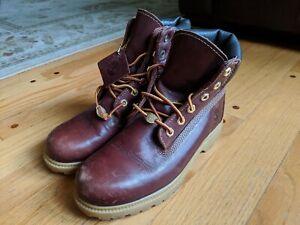 Timberland 6 Inch Premium Burgundy Boot Women 7.5