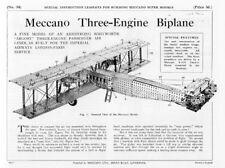 Hobby Costruzioni Meccano Supermodels 34 Three Engine Biplane - DVD