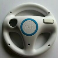 Lot of 2 Genuine White Nintendo Wii Steering Wheel Controller Mario Kart OEM