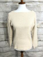 J. Peterman Womens Boat Neck Long Sleeve Sweater SMall GREAT Cotton