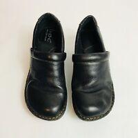 Born BOC Black Slip On Clogs Size 6 Loafers Occupational Comfort