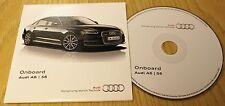 Original Audi a6 s6 Avant 2014-2015 Onboard CD Disc Handbook Handbuch 153.565.4g088