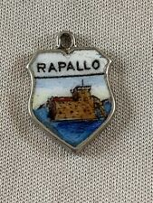 RAPALLO Silver Travel Shield Enamel Charm