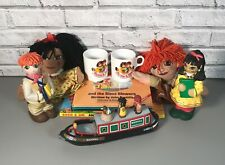 Vintage Rosie and Jim Bundle Canal Narrowboat Hand Puppets Bottles Mugs Books