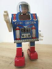 1960s astro capitán Daiya (Mego) la NASA Astronauta Espacio de Juguete de hojalata Clockwork Japón