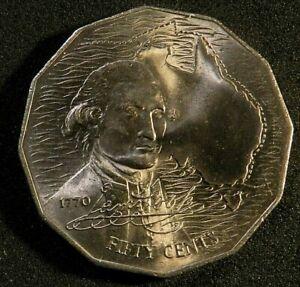1970 AUSTRALIAN UNCIRCULATED 50 CENT COIN