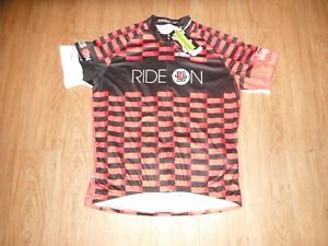 New LOUIS GARNEAU Cycling Jersey WOMEN'S 3XLARGE Black & Red Team Red Nose!!