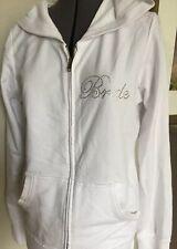 Classy bride zip hoodie white jacket XL wedding pockets