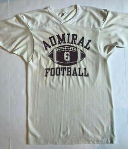 Vintage CHAMPION ADMIRAL FOOTBALL Jersey Top Shirt S Cotton Nylon Free ship