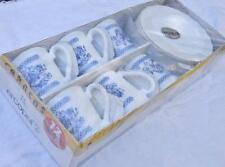 CARACAS FRANCE Feston NEW 12-piece white/blue coffee set BREAK-RESISTANT ARCOPAL