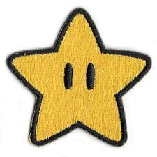 Nintendo Super Mario World Super Star Power Up Embroidered Iron on Patch