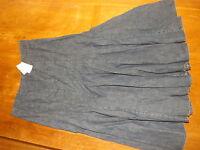 "New Ex-BHS Ladies Mid Blue 100% Cotton A Line Denim Skirt size 14 Lgth 36"" (£28)"