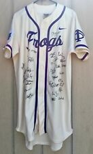 2015 Big 12 TCU Texas Christian Horned Frogs Baseball Team Signed Nike Jersey 10