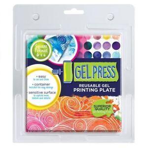 "Gel Press Printing Plates 6"" x 6"""