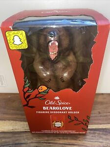 Old Spice Bearglove Deodorant Holder Figurine 2.6 Oz Deodorant Hard To Find