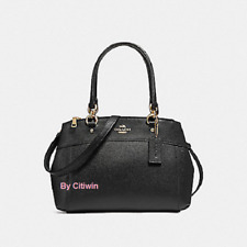 New Coach F25395 MINI BROOKE Carryall Satchel Handbag Purse Shoulder Bag Black