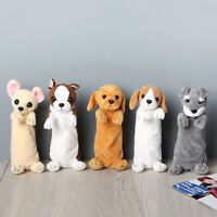 Cartoon Plush Dog Pencil Case Pen Bag For Kids School Supplies Stationery Lovely