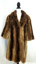 Women's Winter Mink Fur Coat Size L Large Brown by HARRY K. OTT Made in USA EUC