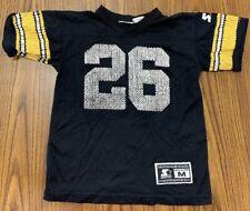 VTG 90's Starter Pittsburgh Steelers NFL Jersey Youth Kids SZ M Black Distressed