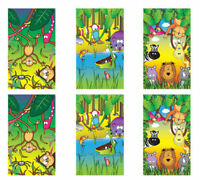 6 Jungle Animal Notebooks - Pinata Toy Loot/Party Bag Fillers Wedding/Kids
